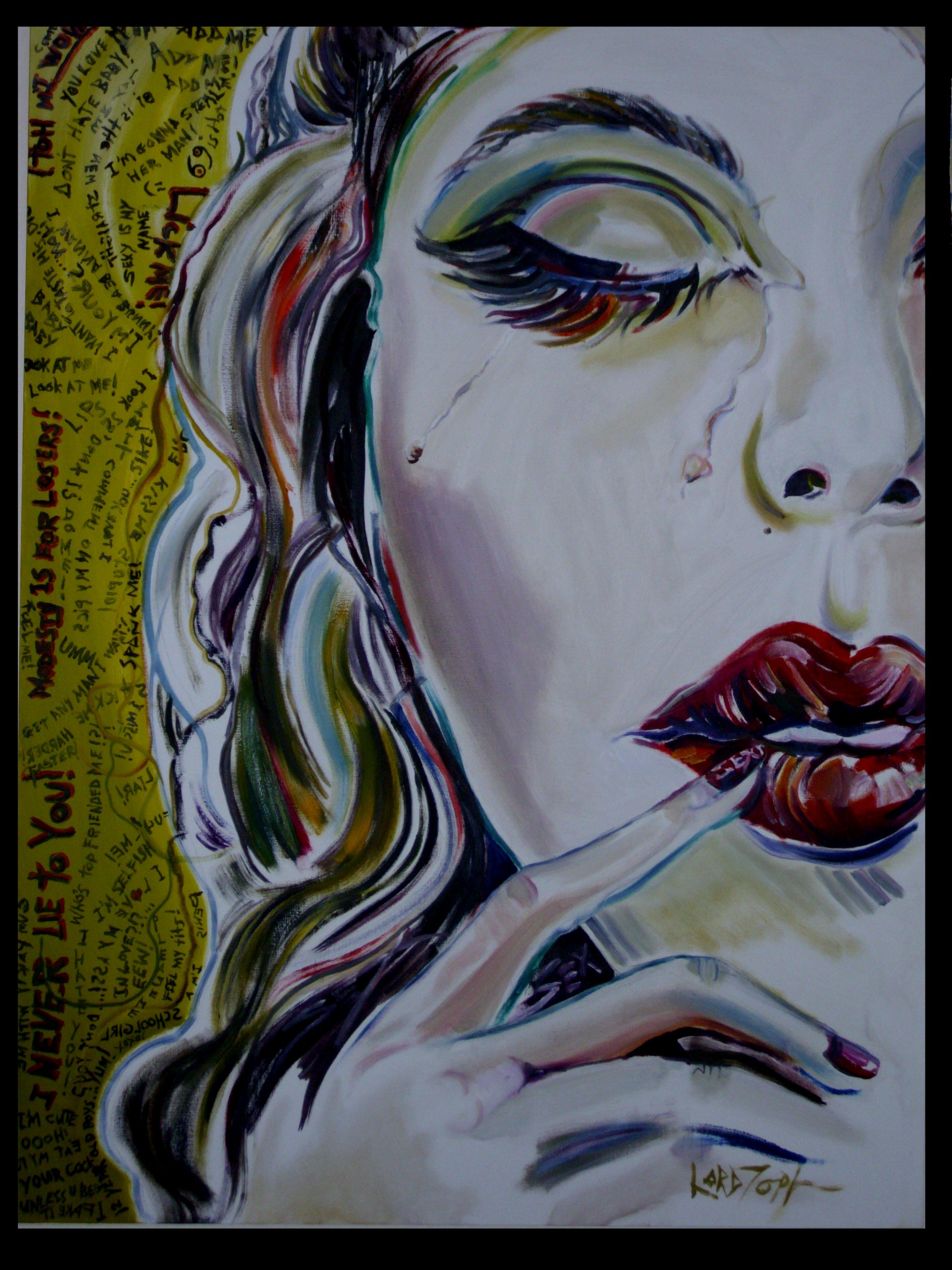 Delilah's Lust for Vanity (Oil on Canvas)
