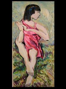 Sitting Pretty (Oil on Canvas Board)